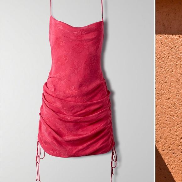 Aritzia Only Ruched Slip Dress
